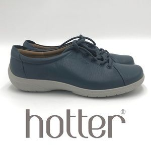 """Hotter """"Dew"""" French blue lace up casual sneaker"""